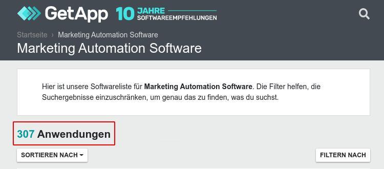 307 anbieter zu marketing automation